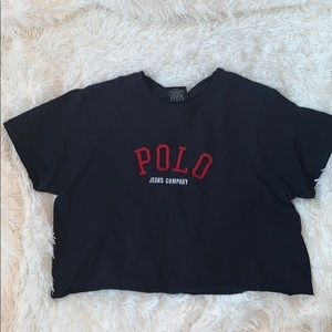 polo jeans ralph lauren crop top